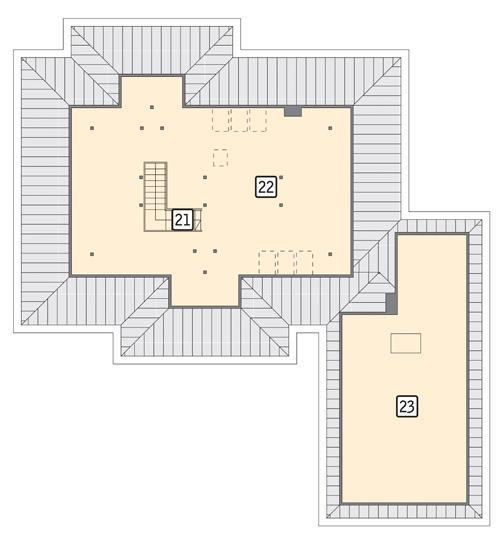 Rzut poddasza POW. 187,3 m²