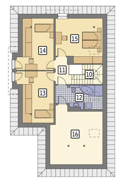 Rzut poddasza POW. 103,1 m²