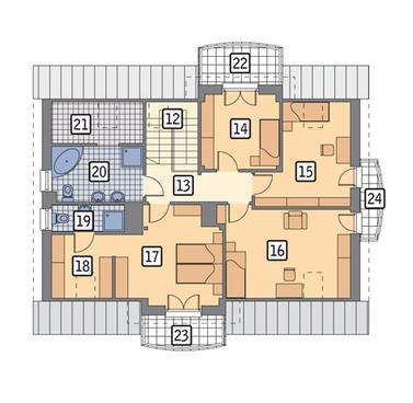 RZUT PODDASZA POW. 75,9 m²