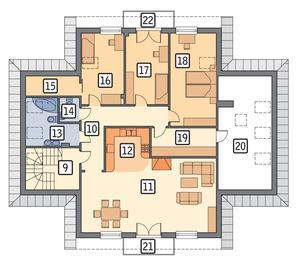 RZUT PODDASZA POW. 155,7 m²